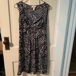 Ann Taylor LOFT blue paisley dress 2